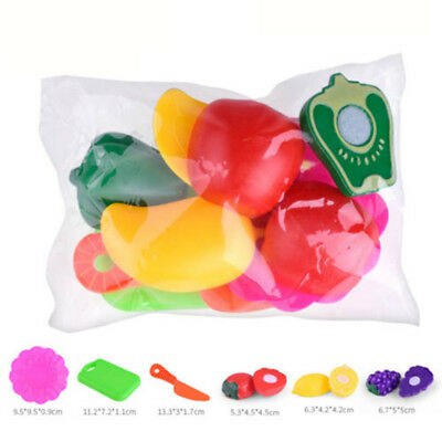 6 PCS Kids Pretend Role Play Kitchen Fruit Vegetable Food Toy Cutting Gift Toy
