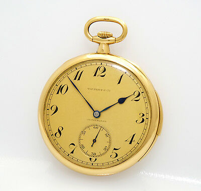 RARE Tiffany & Co, by Patek Philippe Minute Repeater 48mm 18k Gold Pocket Watch