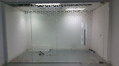 4.43 METRE WIDE SINGLE OFFICE GLASS PARTITION SYSTEM FOR £440 inc VAT
