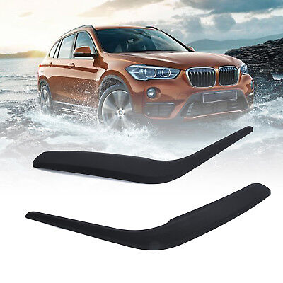 Pair Side Inner Door Panel Handle Pull Trims Cover Black For BMW X1 E84 2010-16