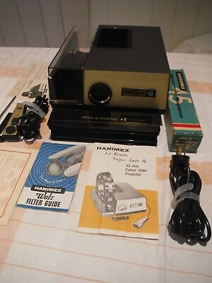 vintage hanimax la ronde super auto 35 mm slide projector,,pickup or can courier