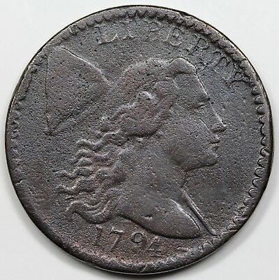 1794 Liberty Cap Large Cent, Head of 1794, VF detail