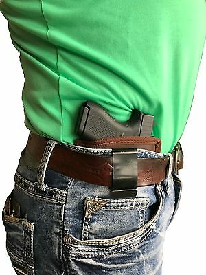 Concealed IWB Brown Leather Gun holster for Glock 19 23 32