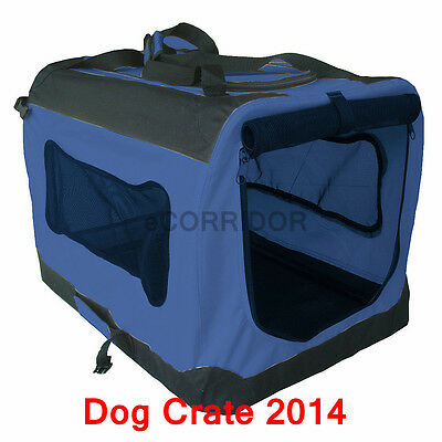 Small / Large / XXL Portable Soft Pet Dog Crate Cage Kennel  Blue HIGH QUALITY