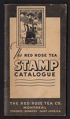 CANADA  POSTAL  ADV.//  RED ROSE TEA CATALOGUE 48 PAGES of STAMPS CIRCA 1930s