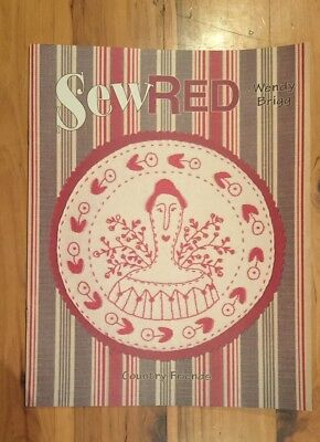 Sew Red Country Friends embroidery pattern book 8 designs quilting patchwork
