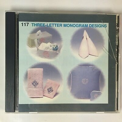 Janome 117 THREE LETTER MONOGRAM MEMORY CARD SEWING 1997
