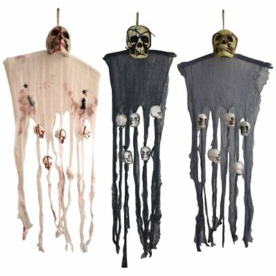 Skull Halloween Hanging Ghost Haunted House Grim Reaper Horror Party Props Decor