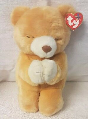 TY Beanie Baby - HOPE the Praying Bear (7 inch) - Mint Condition