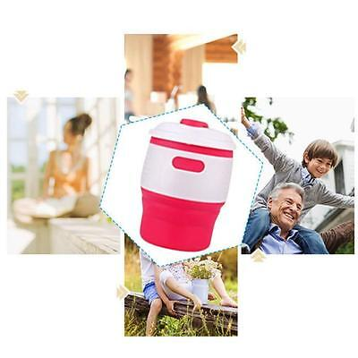 Travel Silicone Coffee Tea Cup Portable Coffee Cups With Lid Anti-Dust D