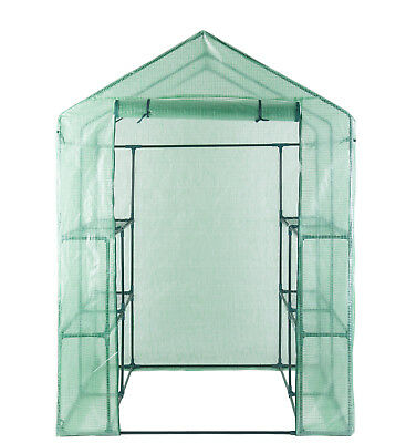 Greenhouse Portable Outdoor Green House Walk In 8 Shelves 2 Tier Sheds Gardening