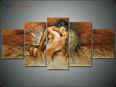 Large Wall Art Framed Modern Figure Abstract Oil Painting Canvas lovers kiss 252