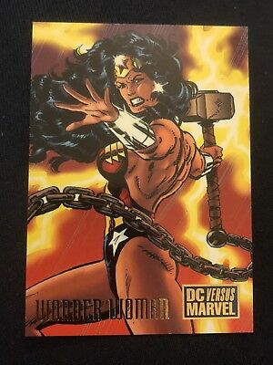 1995 DC Versus Marvel Fleer SkyBox Card #27 Wonder Woman