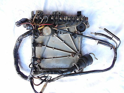 Johnson 85 HP Outboard Evinrude Wiring Harness Plate Electric Hydro Shift 1969