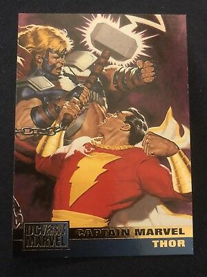 1995 DC Versus Marvel Fleer SkyBox Card #19 Captain Marvel Thor