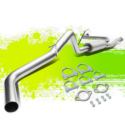 """409 Stainless Steel Catback Muffler Exhaust 3"""" Piping For 05-17 Frontier D40"""