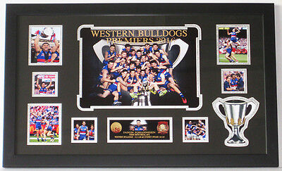 Western Bulldogs Premiers 2016 Framed Collage 40cm H x 66cm W Ready to Hang-NEW