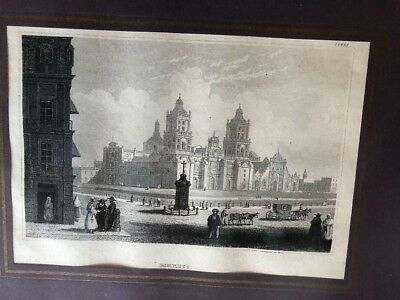 Mexico, 1850, antiker Holzstich, antique wood engraving