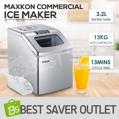 Maxkon 3.2L Portable Ice Cube Maker Machine Commercial Freezer Benchtop Counter