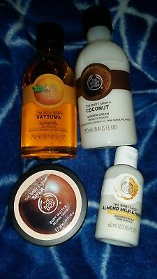 The Body Shop Lot 3 Body Washes & Body Butter (4 items) Free postage