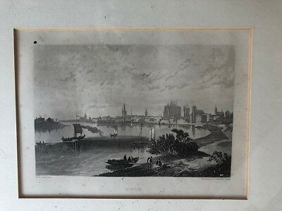 Cologne,1840, antiker Stahlstich, antique iron engraving