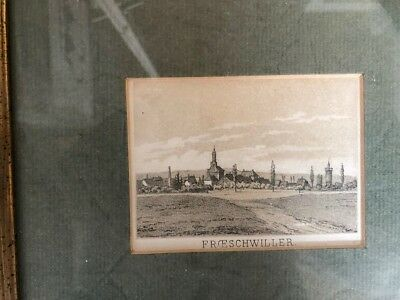 Freschwiller, 1860, antike Tonlitographie, antique tonlithographie