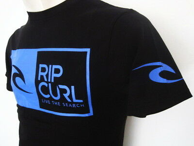 RIP CURL Mens Brand New Genuine Premium Quality tee t-shirt top black S-3XL