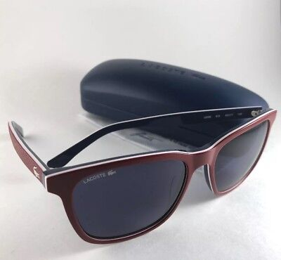 fde494ba00a4 New LACOSTE Sunglasses L833S 615 Red White Blue Frame 55-17 140 Grey Lenses
