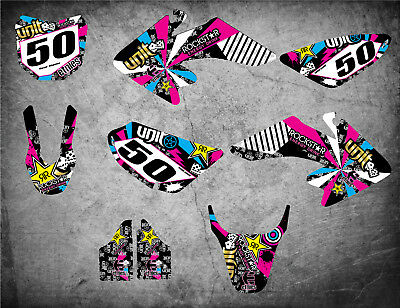 Custom Graphics Full Kit to Fit Honda CRF 50 2013 - 2018 RUSH STYLE stickers