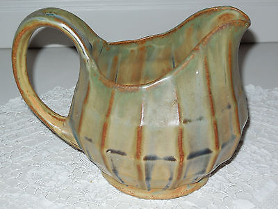 Rare Antique French WATER or WINE PITCHER - MAJOLICA - BROWN GREEN TURQUOISE