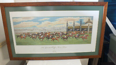"""Horse Racing Melbourne Cup """"The Greatest Race Never Run"""" Framed"""
