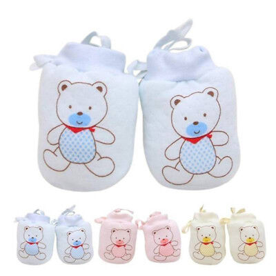 3 Pair Baby Gloves Anti Scratch Face Hand Guards Protection Soft Newborn Mittens