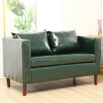 Faux Leather Small Sofa Settee Armrest Chairs Lounge Seat 2 Seater Home Office