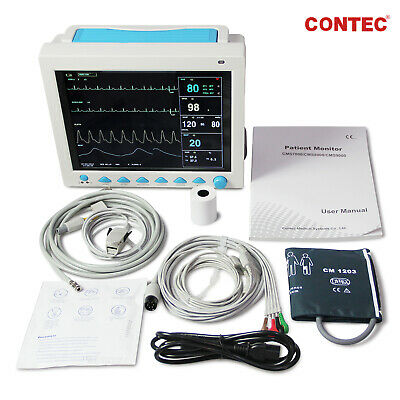 FDA CE CMS8000 Portable Patient Monitor 6 Parameter Vital Signs ICU+Free Printer