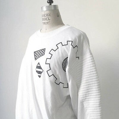 ⭕ 80s Vintage padded sweat shirt : industrial punk new order Knasai 70s rave 90s
