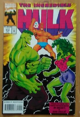 Incredible Hulk #412 1993 VF+ Marvel Avengers Comics She-Hulk Doc Samson