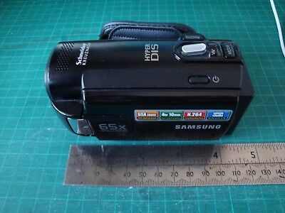 Boxed Samsung 65x zoom camcorder with 16gb memory card