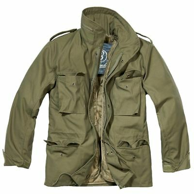 Brandit M65 Jacket + Quilted Liner Mens Military Army Tactical Combat Field Coat