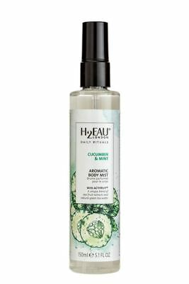 H2EAU LONDON Cucumber & Mint Body Mist With Real Fruit Extracts 150ml