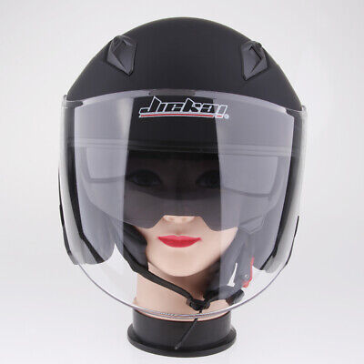 Motorcycle 3/4 Open Face Helmet with Full Face Shield Visor - M/L/XL/XXL