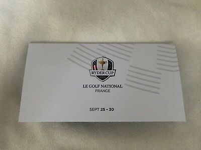 2x Ryder Cup Ticket Freitag, 28.09.2018 2x Travel Cards Paris