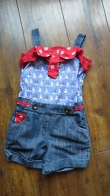 Next girls Shorts jumpsuit Age 7 years