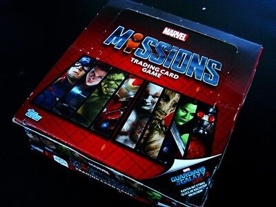 Topps MARVEL MISSIONS Trading Card Game- 1 Display=24 Tüten/Booster Sammelkarten