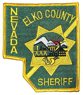 ELKO COUNTY NEVADA NV Police Sheriff Patch - STATE SHAPE – STATE SEAL ~