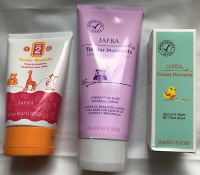 JAFRA (3) Tender Moments Massage Cream Shampoo And Bottom Balm