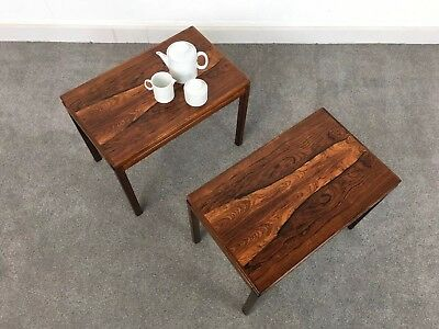 Pair of Scandinavian  Rosewood Side Tables - Just Arrived