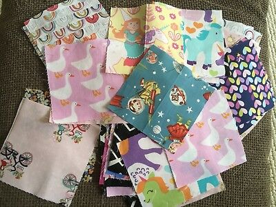 """4.5"""" Charm Pack Assorted Designs, For Patchwork And Crafts. Min. 40 Plus"""