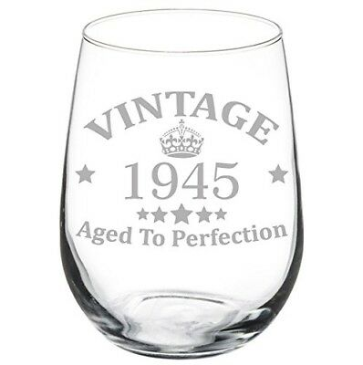 (500ml Stemless) - Wine Glass Goblet 72nd Birthday Vintage Aged To Perfection