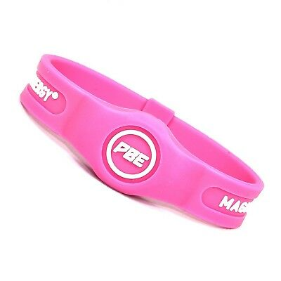 (Pink/White, Small - 17.5cm) - *NEW* Power Balance ENERGY® Magnetic Therapy