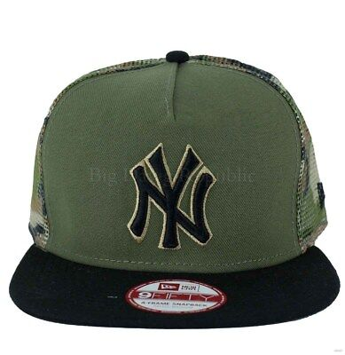New Era MLB 9Fifty NY New York Yankees Camo Mesh Snapback Baseball Size - S/M